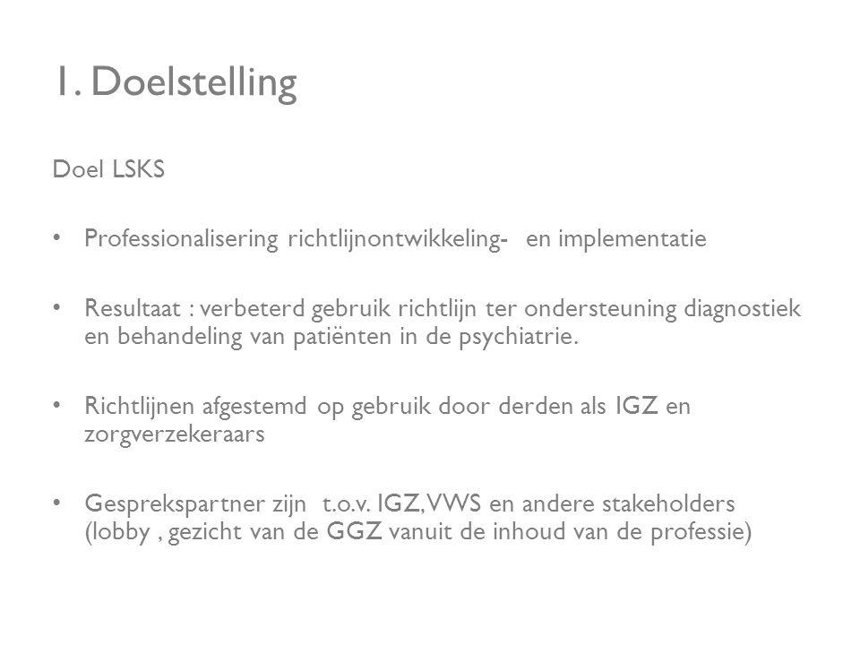 1. Doelstelling Doel LSKS