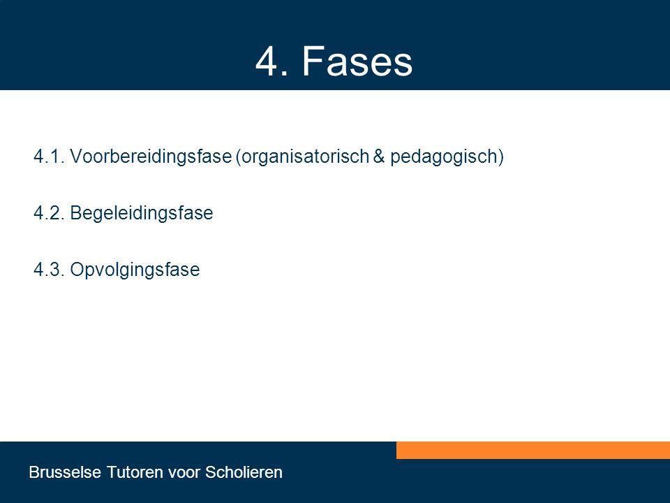 4. Fases 4.1. Voorbereidingsfase (organisatorisch & pedagogisch)