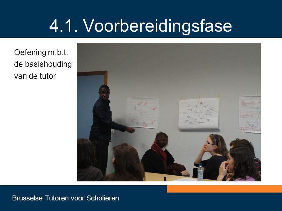 4.1. Voorbereidingsfase Oefening m.b.t. de basishouding van de tutor