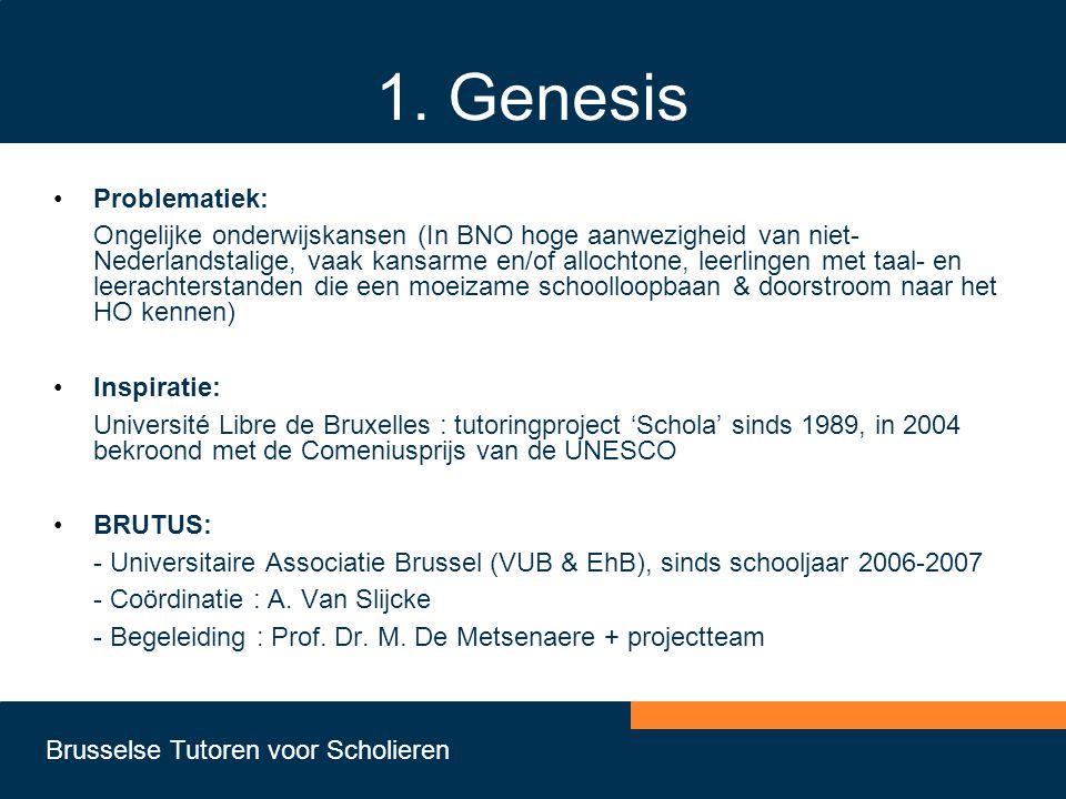 1. Genesis Problematiek: