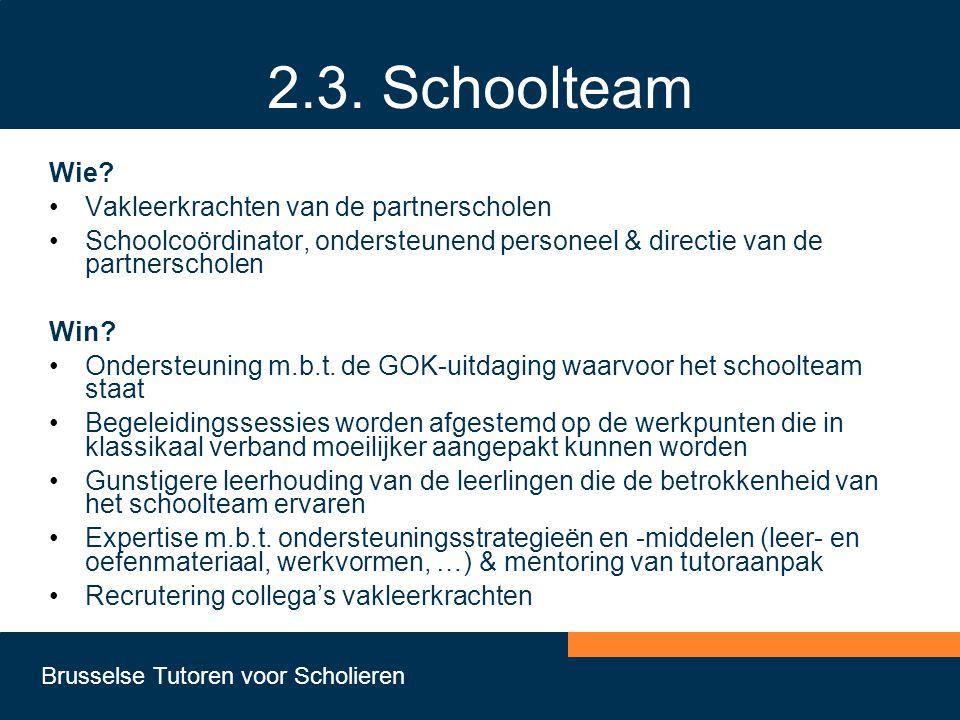 2.3. Schoolteam Wie Vakleerkrachten van de partnerscholen