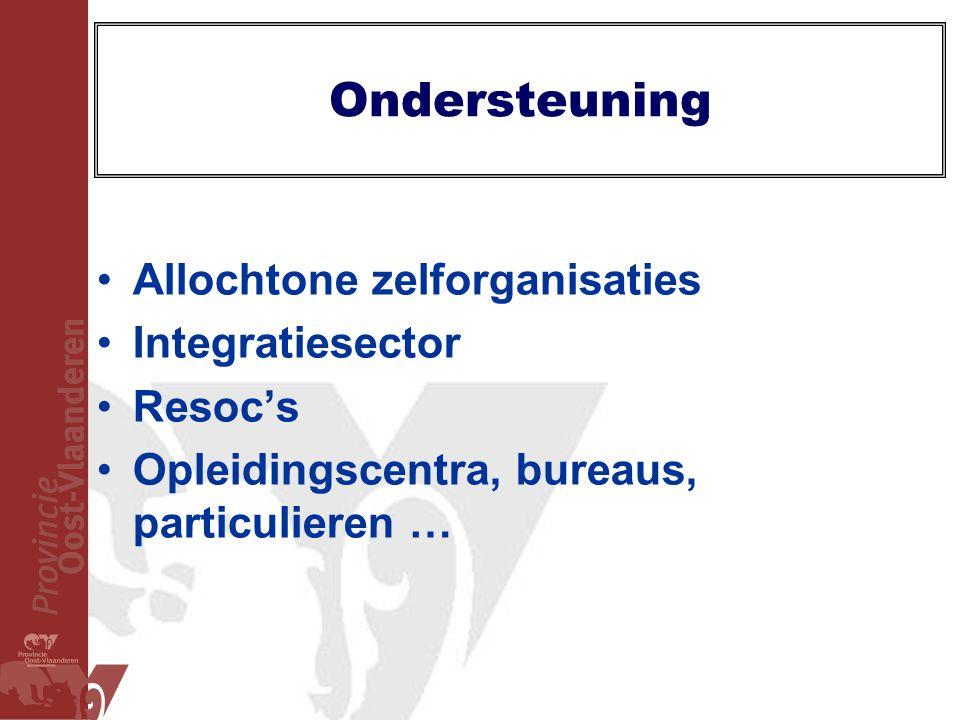 Ondersteuning Allochtone zelforganisaties Integratiesector Resoc's