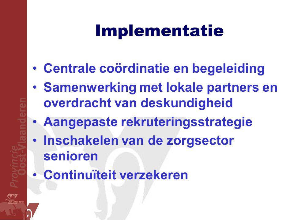 Implementatie Centrale coördinatie en begeleiding