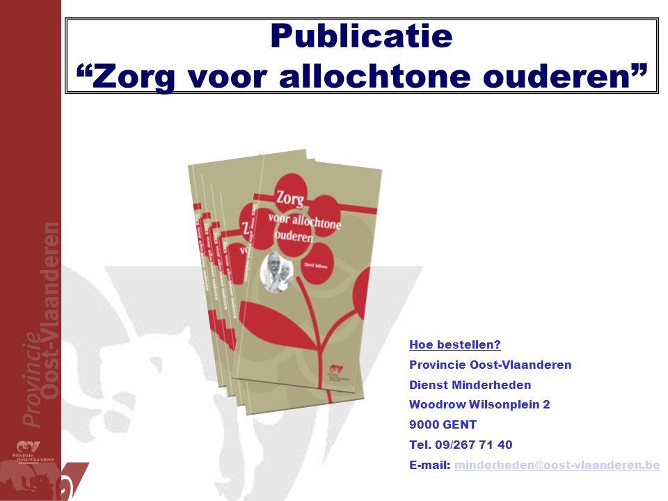 Publicatie Zorg voor allochtone ouderen