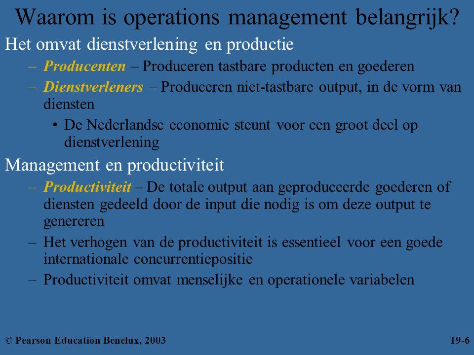 Waarom is operations management belangrijk