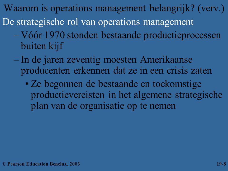 Waarom is operations management belangrijk (verv.)