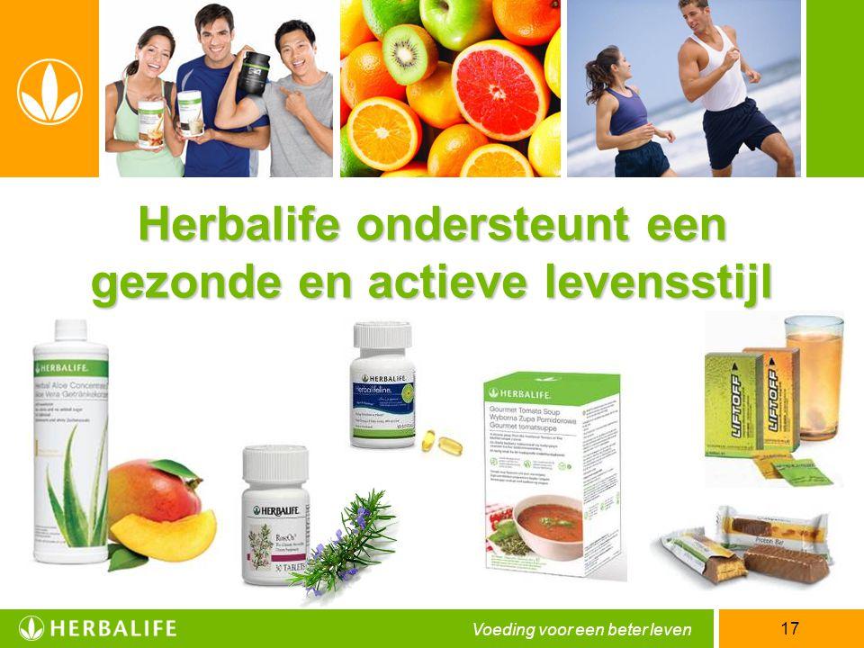 Herbalife ondersteunt een gezonde en actieve levensstijl