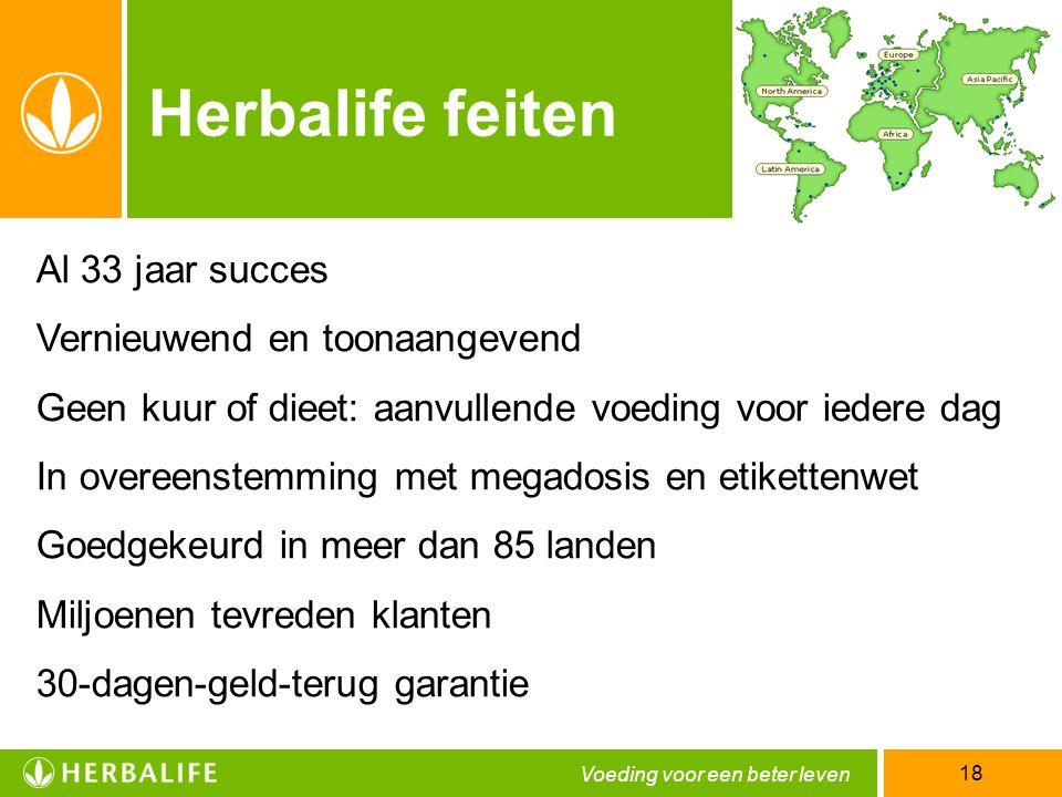 Herbalife feiten Al 33 jaar succes Vernieuwend en toonaangevend