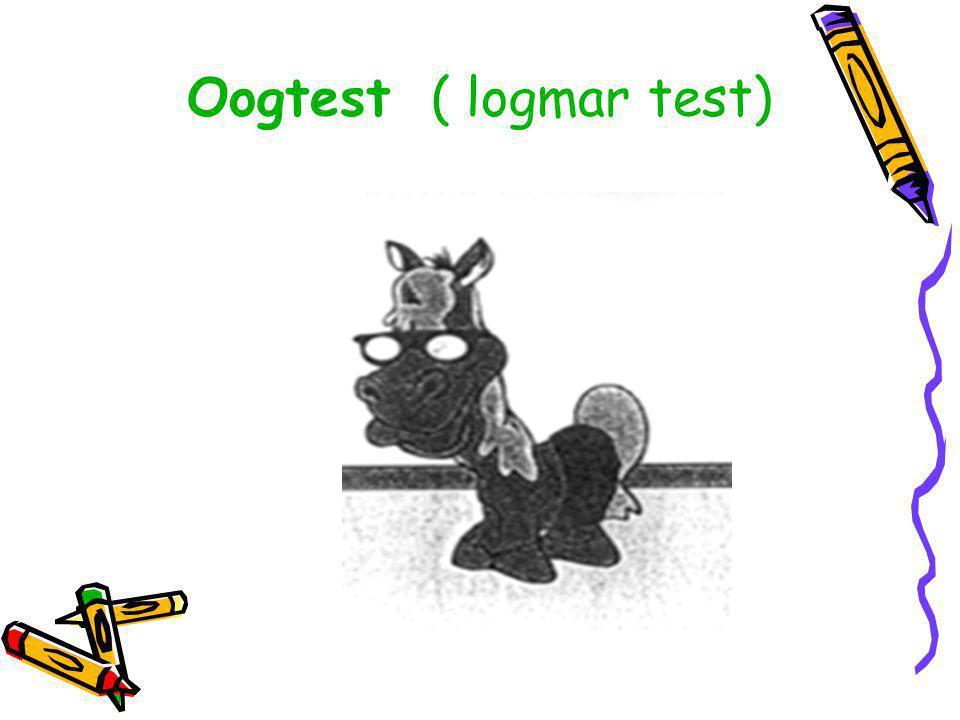Oogtest ( logmar test)