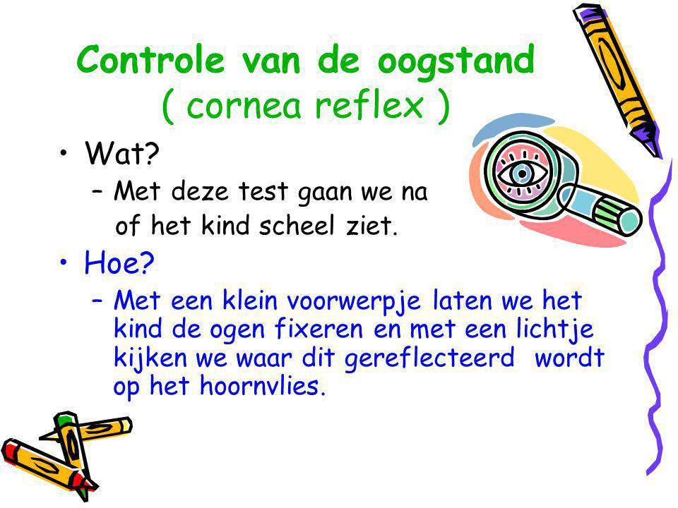 Controle van de oogstand ( cornea reflex )