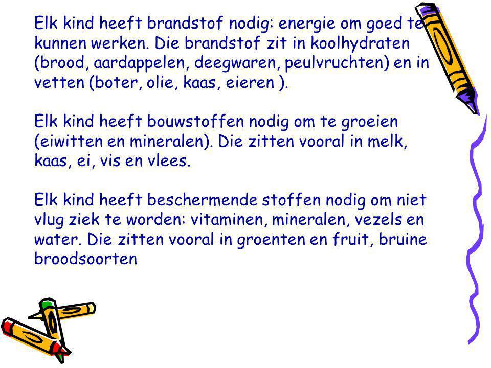 Elk kind heeft brandstof nodig: energie om goed te kunnen werken