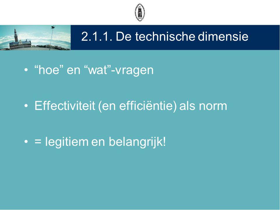 2.1.1. De technische dimensie