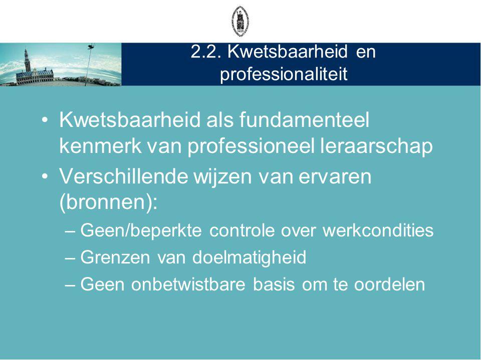 2.2. Kwetsbaarheid en professionaliteit