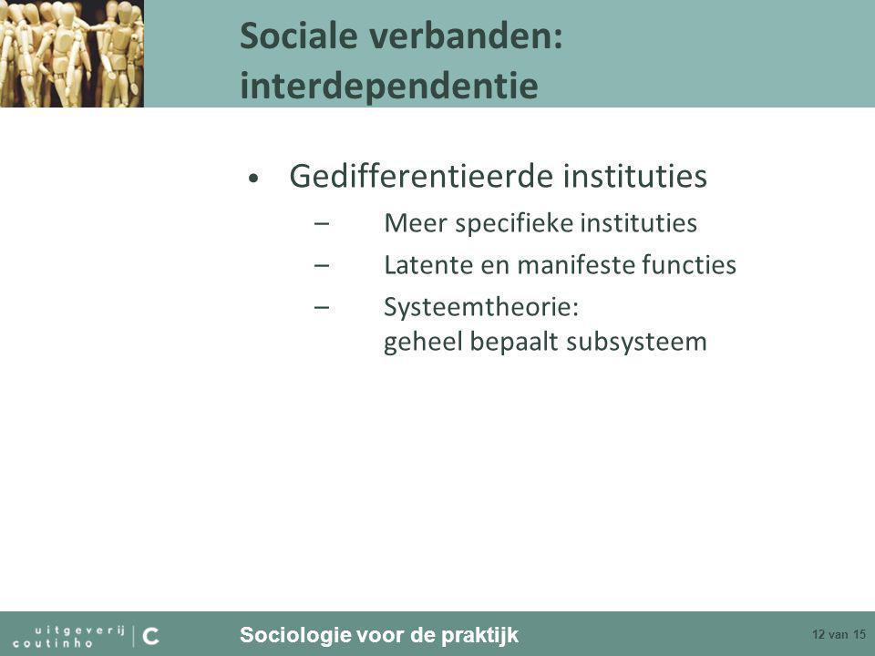 Sociale verbanden: interdependentie