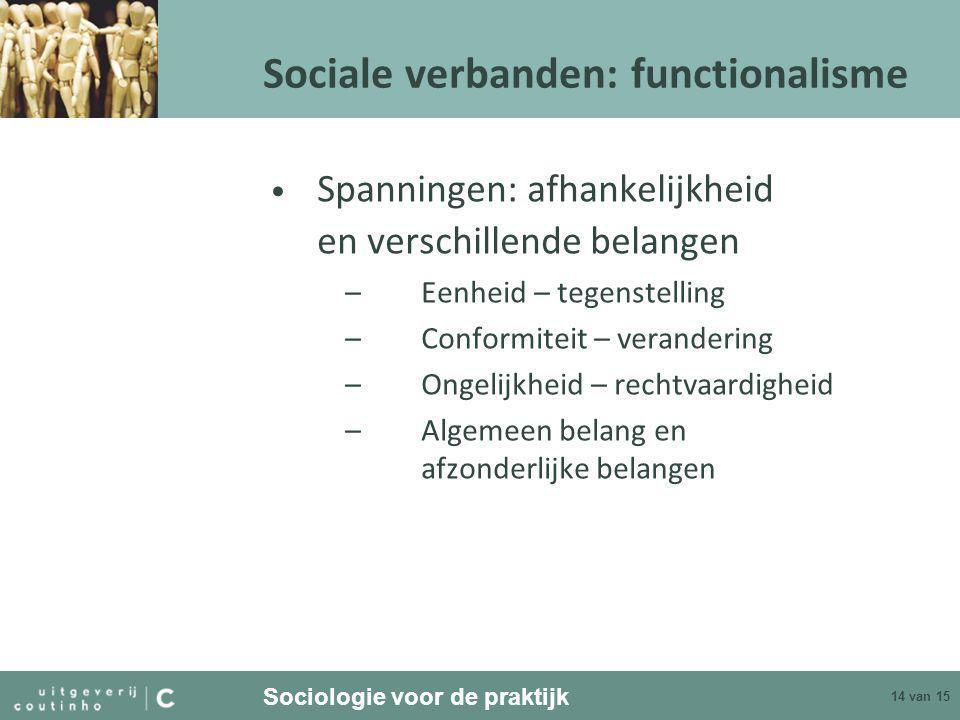 Sociale verbanden: functionalisme