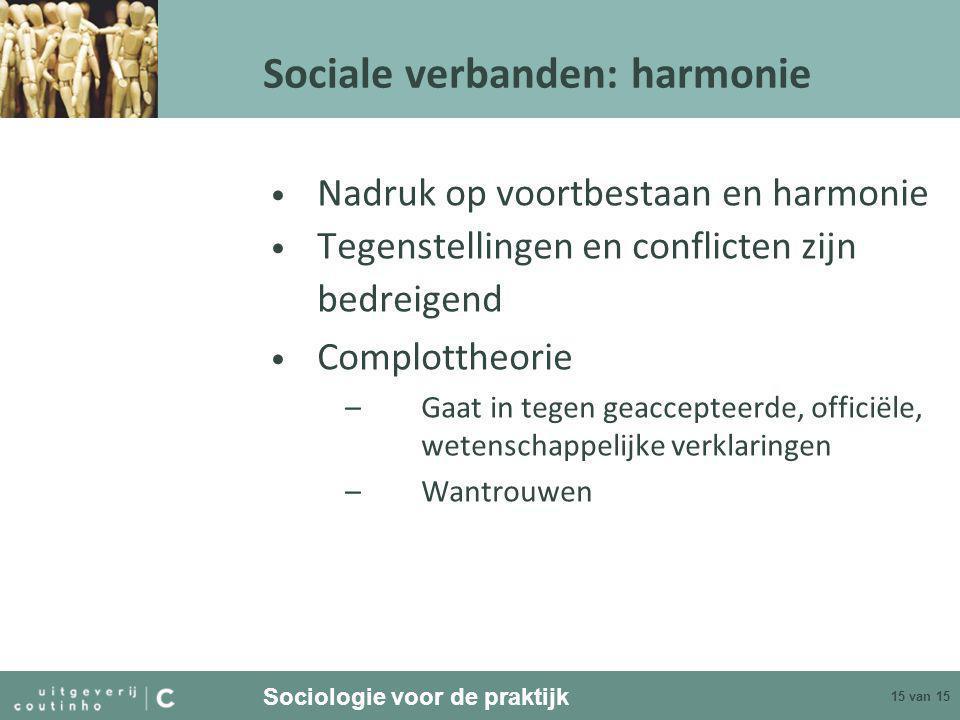 Sociale verbanden: harmonie