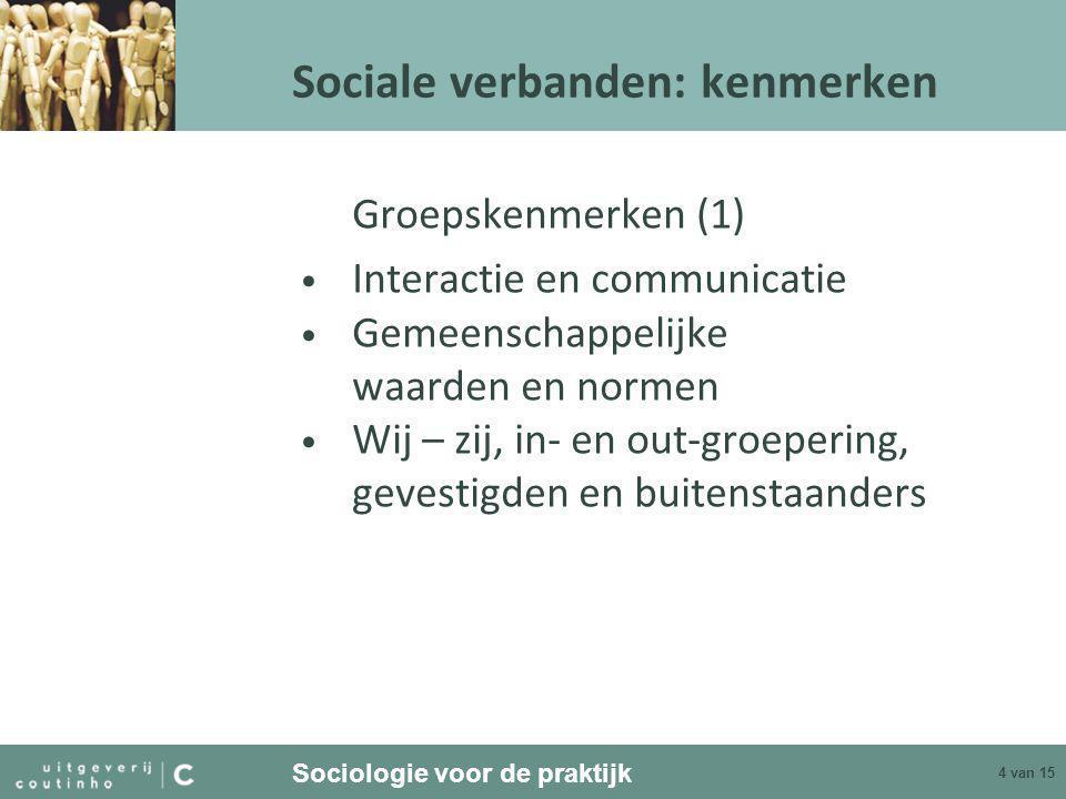 Sociale verbanden: kenmerken