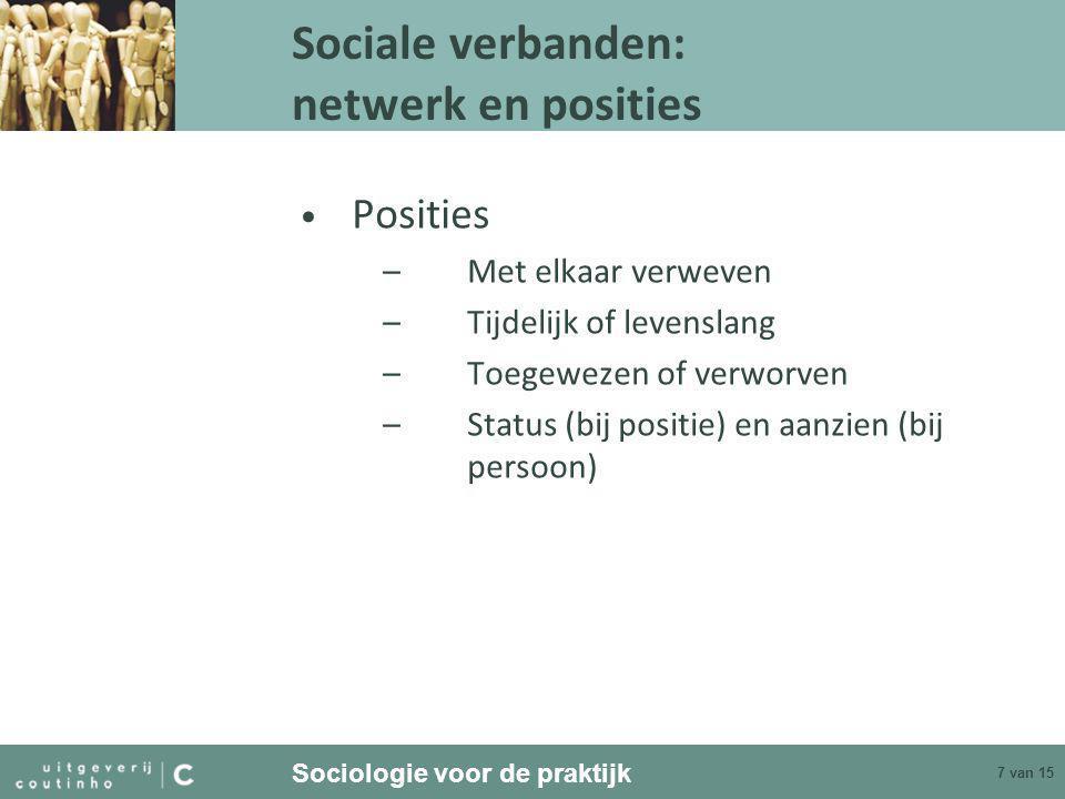 Sociale verbanden: netwerk en posities