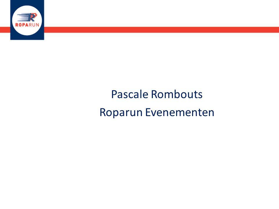 Pascale Rombouts Roparun Evenementen