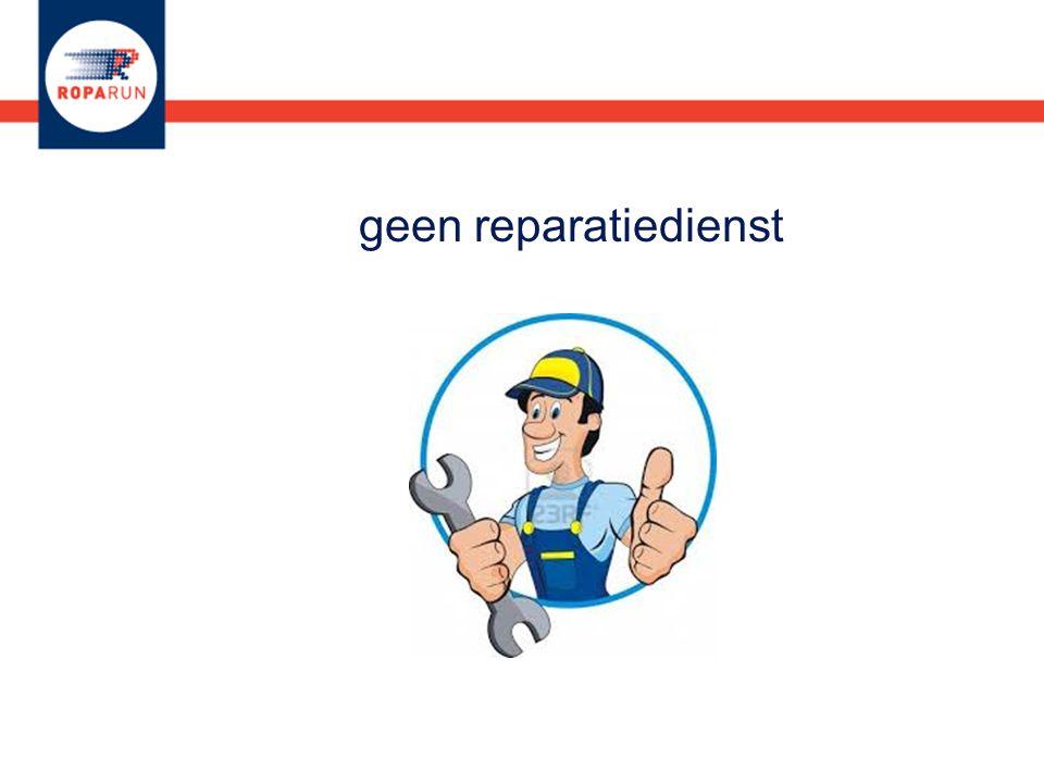 geen reparatiedienst