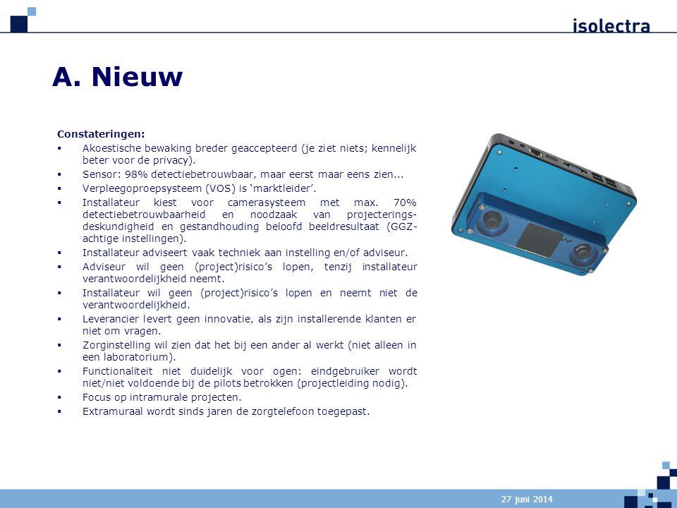 A. Nieuw Constateringen: