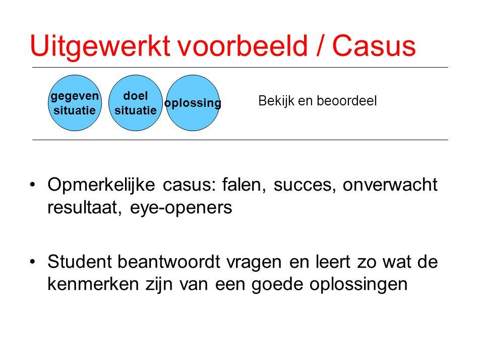 Uitgewerkt voorbeeld / Casus