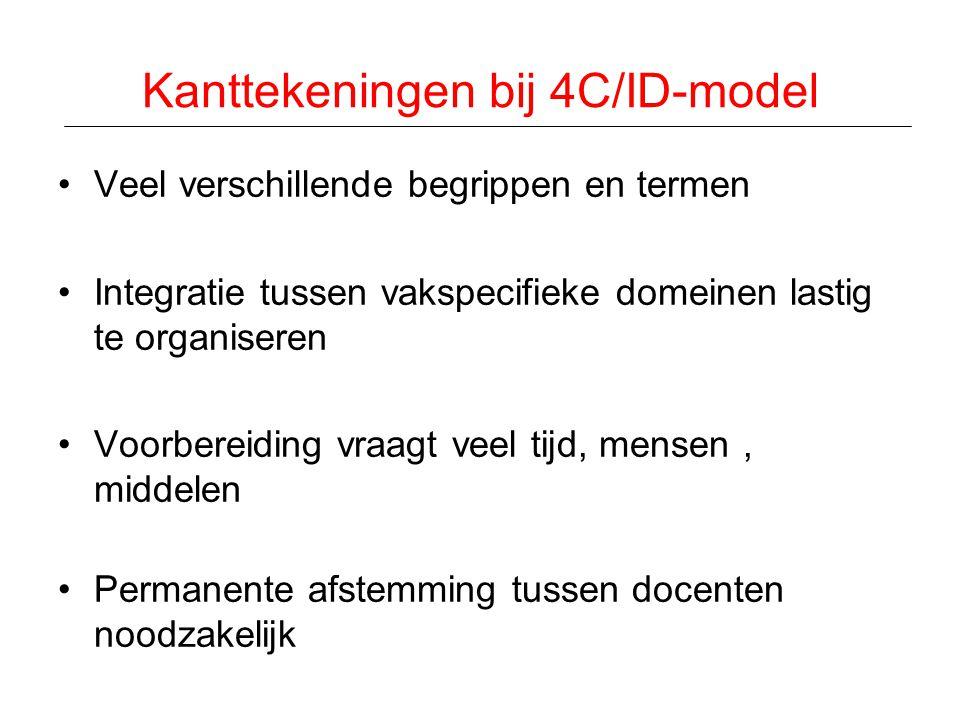 Kanttekeningen bij 4C/ID-model
