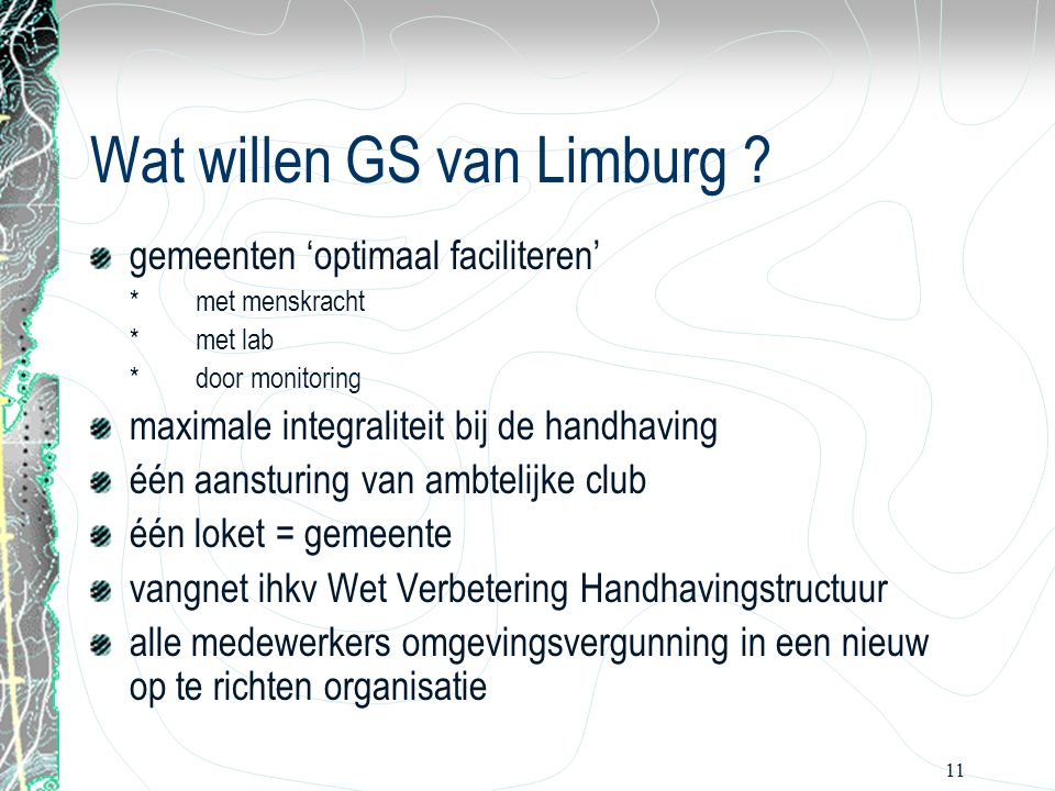 Wat willen GS van Limburg