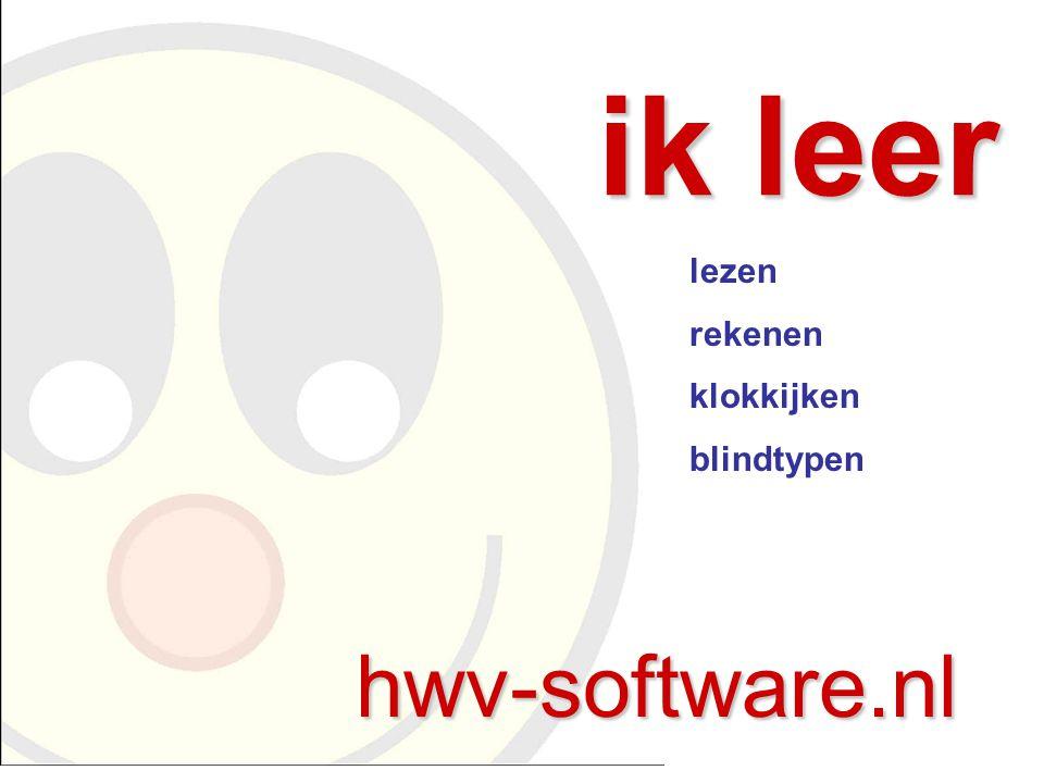 ik leer lezen rekenen klokkijken blindtypen hwv-software.nl