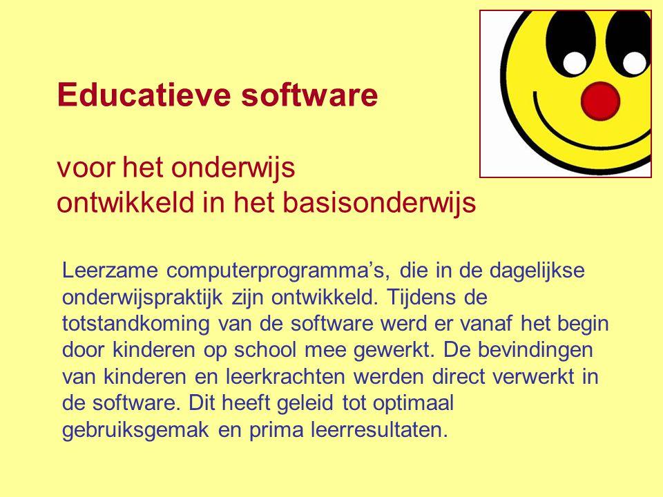 Educatieve software voor het onderwijs ontwikkeld in het basisonderwijs
