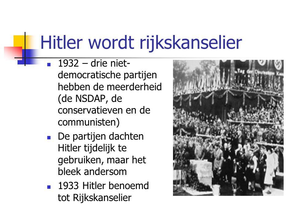 Hitler wordt rijkskanselier
