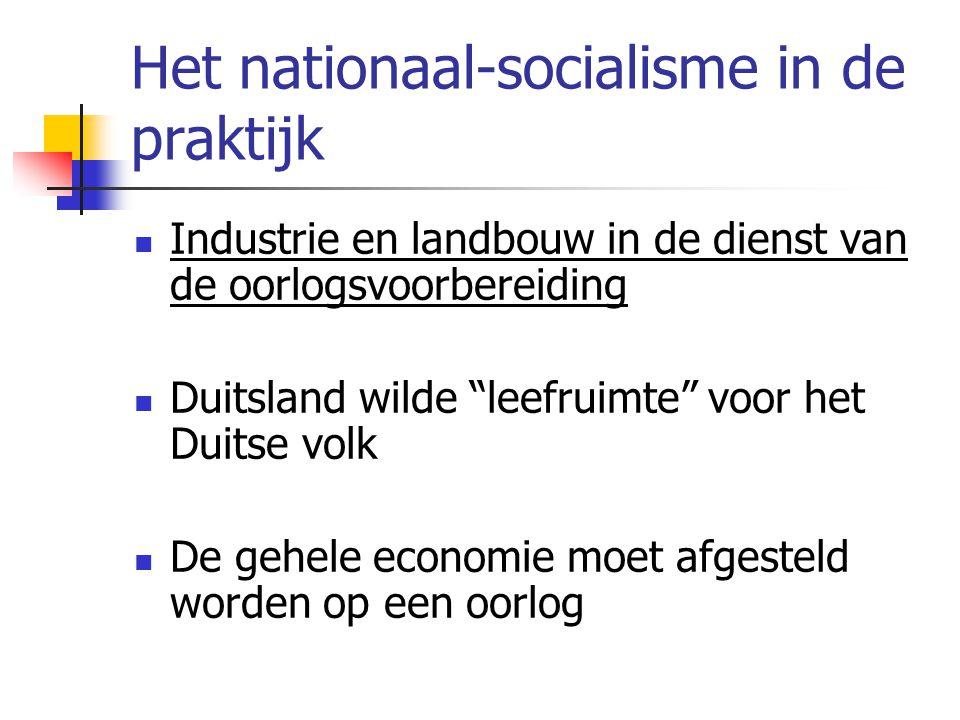 Het nationaal-socialisme in de praktijk