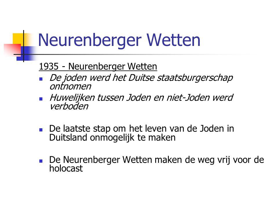 Neurenberger Wetten 1935 - Neurenberger Wetten
