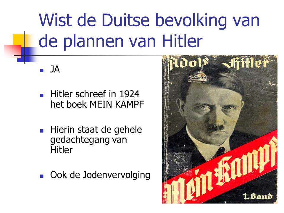 Wist de Duitse bevolking van de plannen van Hitler