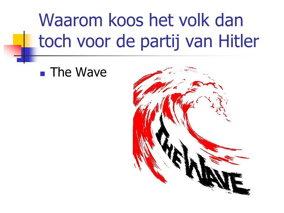 Waarom koos het volk dan toch voor de partij van Hitler