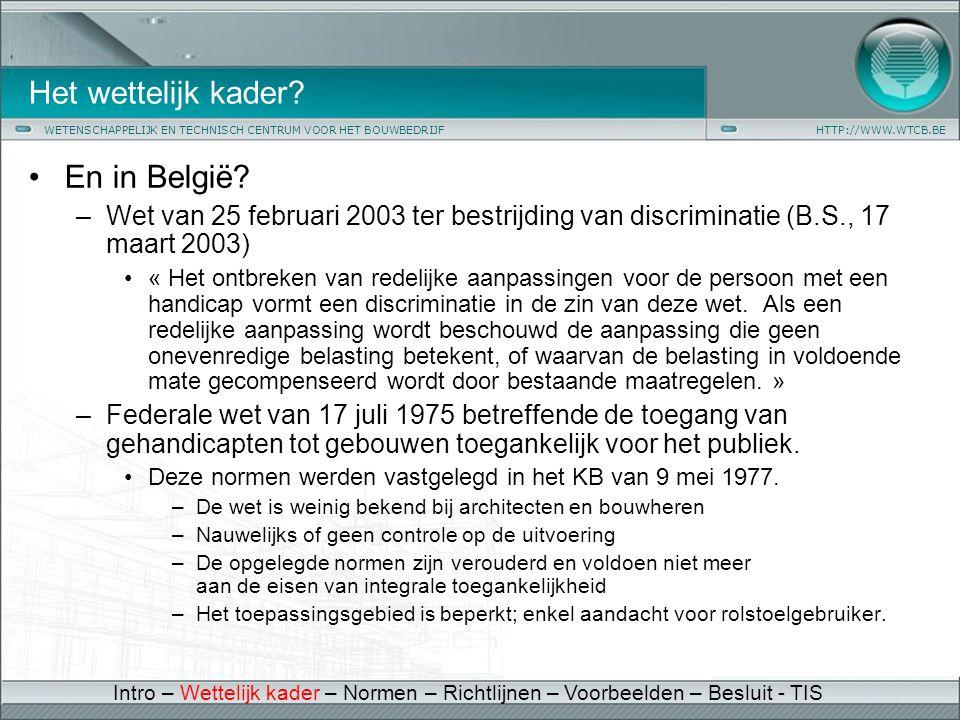 Het wettelijk kader En in België