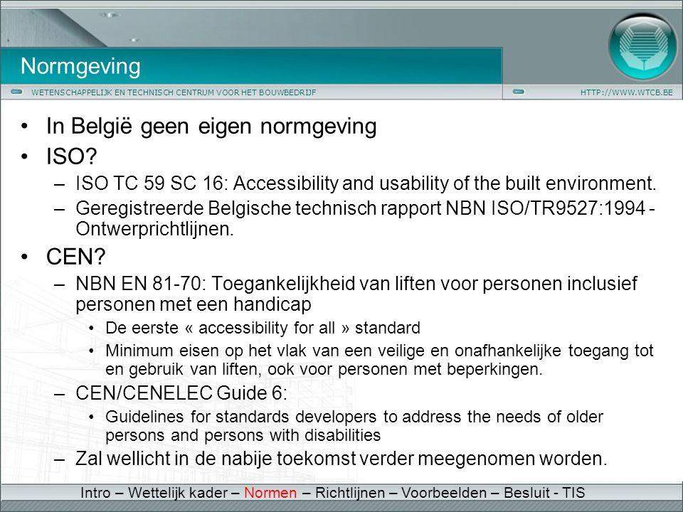 In België geen eigen normgeving ISO