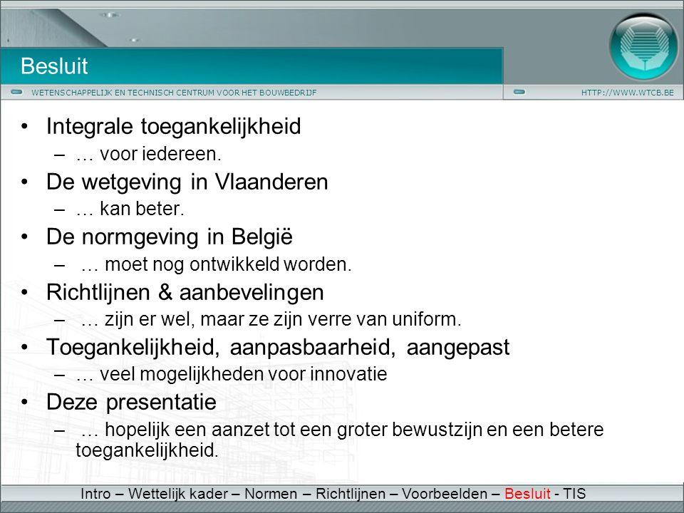 Integrale toegankelijkheid De wetgeving in Vlaanderen