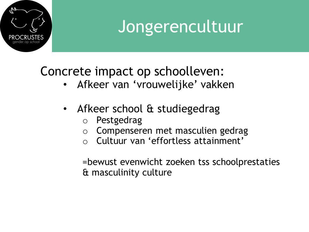 Jongerencultuur Concrete impact op schoolleven: