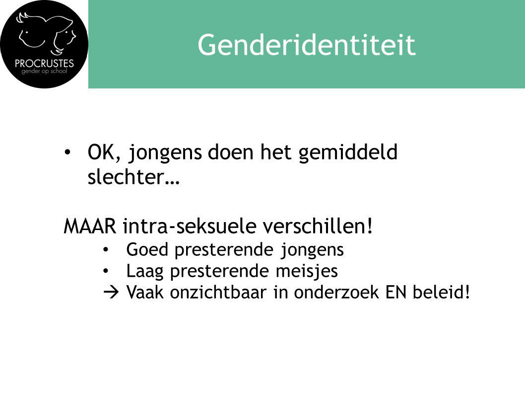 Genderidentiteit OK, jongens doen het gemiddeld slechter…