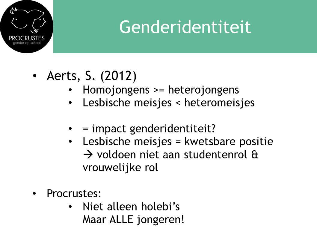 Genderidentiteit Aerts, S. (2012) Homojongens >= heterojongens