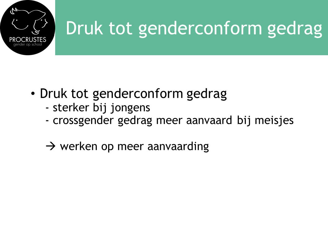 Druk tot genderconform gedrag