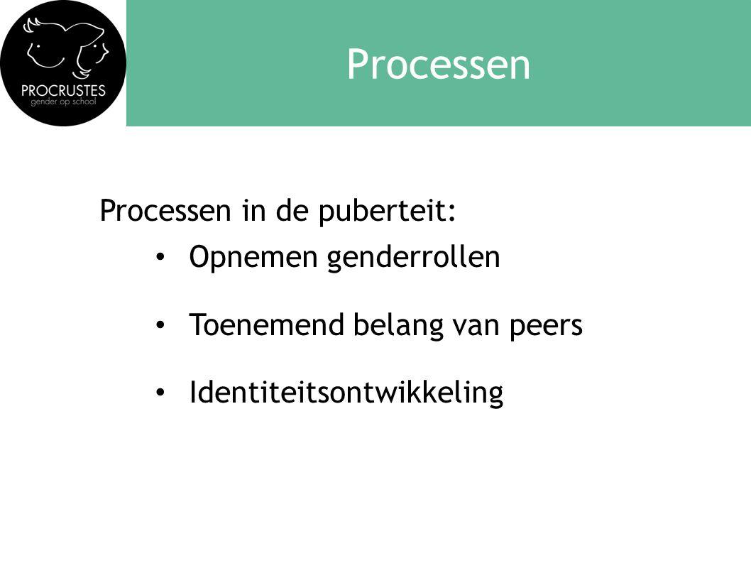 Processen Processen in de puberteit: Opnemen genderrollen