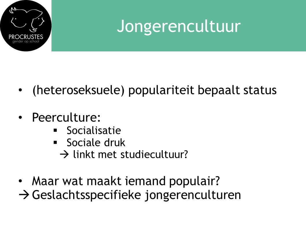 Jongerencultuur (heteroseksuele) populariteit bepaalt status