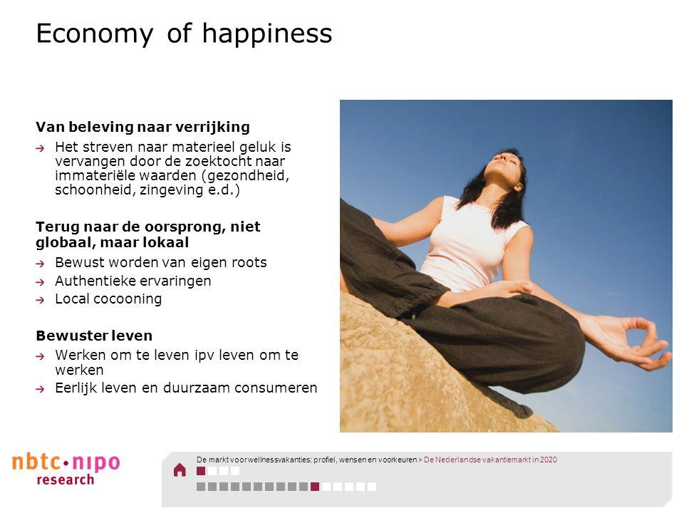Economy of happiness Van beleving naar verrijking