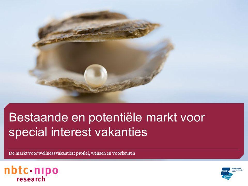 Bestaande en potentiële markt voor special interest vakanties