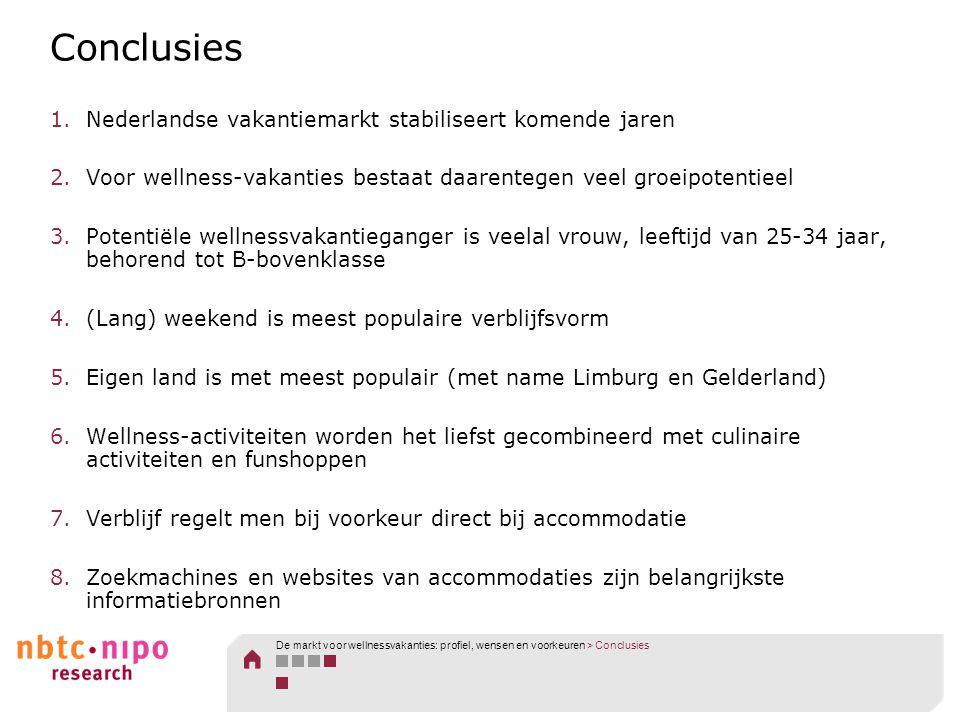 Conclusies Nederlandse vakantiemarkt stabiliseert komende jaren
