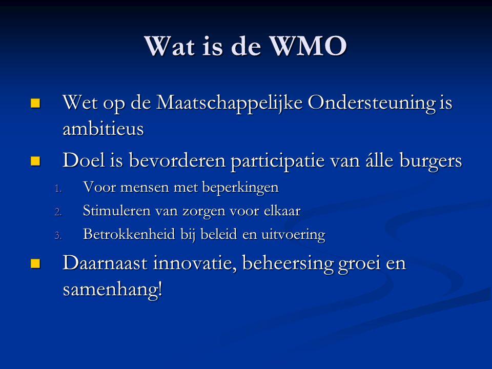 Wat is de WMO Wet op de Maatschappelijke Ondersteuning is ambitieus