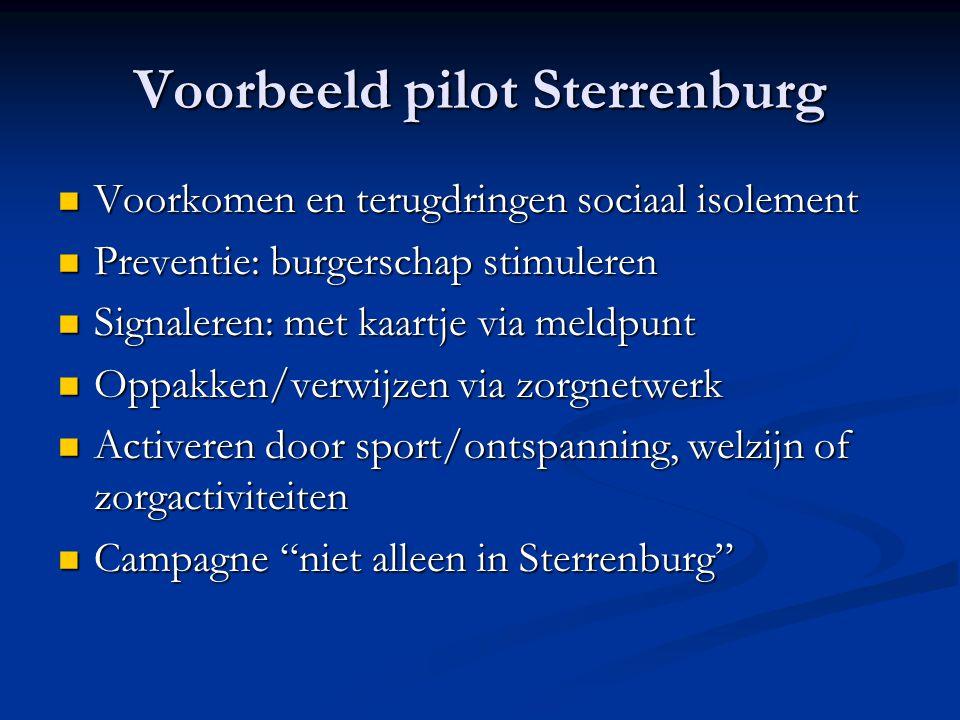 Voorbeeld pilot Sterrenburg