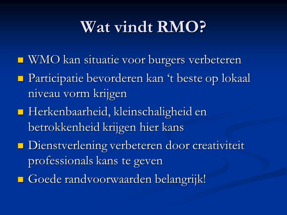 Wat vindt RMO WMO kan situatie voor burgers verbeteren